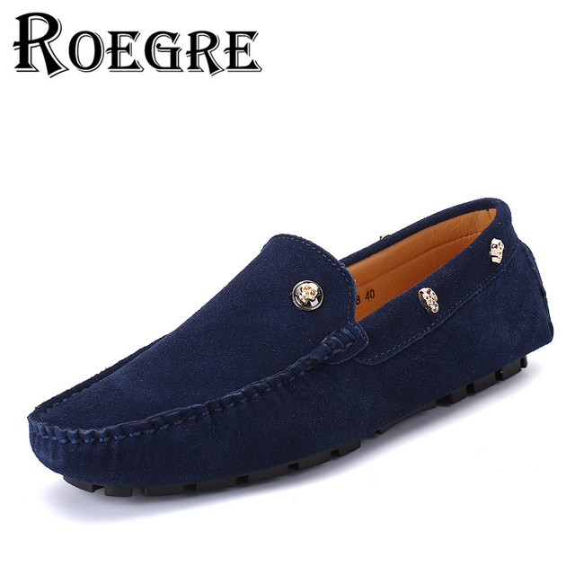 Men's Suede Leather Loafers Shoes