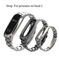Per xiaomi mi banda 2 cinghia di Più In Acciaio Inox Senza Viti In Metallo cinturino da polso per Miband 2 smart braccialetto Cinturino