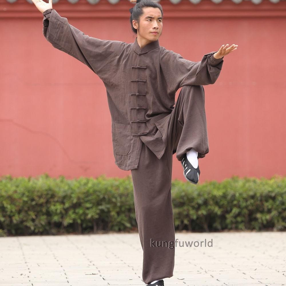 24 Colors Linen Wudang Taoist Shaolin Monk Tai chi Uniform Chinese Wushu Martial arts Kung fu Wing Chun Suit    2