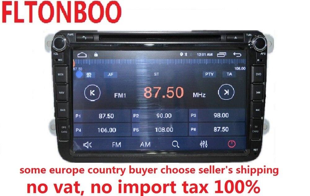 Android 7.1 pour VW B6, tiguan, golf jetta 2din voiture dvd, gps, wifi, radio, bluetooth, volant Canbus, livraison 8g carte micro, écran tactile