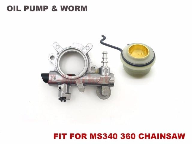 pompe huile pour stihl ms340 ms360 034 036 essence tron onneuse 2 temps moteur jardin outils. Black Bedroom Furniture Sets. Home Design Ideas