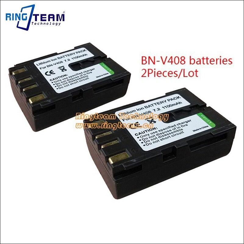 2Pcs BN-V408U BN-V408 <font><b>Camcorder</b></font> Battery and 1Pc Travel <font><b>Charger</b></font> for <font><b>JVC</b></font> <font><b>Camcorder</b></font> GR D32U D32U D40 D50 D50E D53 D60EK D70 D70K