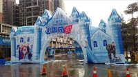 free air blower giant Inflatable castle arch Flozen Entrance with The Snow Queen Elsa for Event Made in China