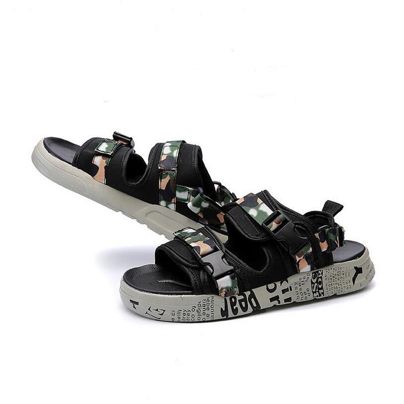 2017 Hot Sale Summer Classic Men Outdoor Casual Flats Sandals Fashion Summer Beach Shoes Cheap Buckle Strap Non-slip Slippers 4