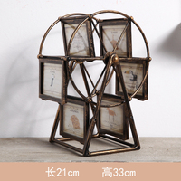 American style retro nostalgic personality creative decoration ferris wheel frame decoration wine cabinet living room Euro home