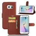Vintage pu leather case para samsung galaxy s7 edge tampa flip com o titular do cartão carteira com suporte móvel de proteção acessórios