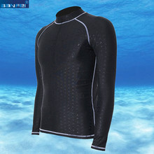 BANFEI Triathlon Shark Skin Rash guard mannen Badpak lange mouw T-shirt Zee Strand Water Sport Surfen Duiken Suit RashGuard(China)