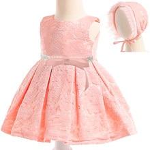 985765640 Recién Nacido bebé niñas de encaje sin mangas con sombrero vestido niña  ropa de vestido de
