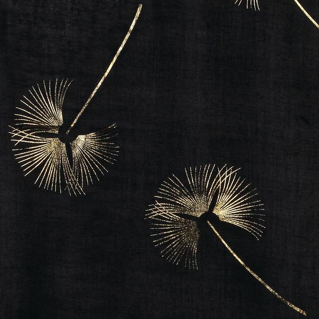 Bronzing Gold Floral Scarf | Lightweight Scarves