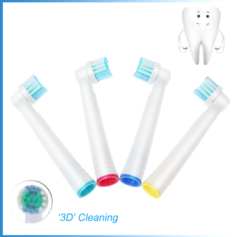 4Pcs Replacement Toothbrush Heads Fit for Braun Oral B Vitality EB17-4 Electric Toothbrush Heads Oral Hygiene Teeth whitening image
