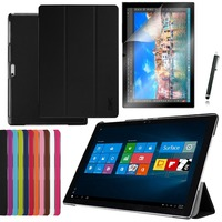3in1 Ultra Slim Magnetic Luxury Folio Stand Leather Case Smart Cover Screen Protector Stylus For Microsoft