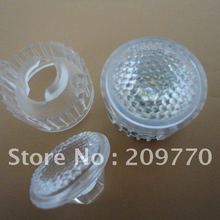 2f1c64a26f9 Wholesale- LED lens 20MM Bead face optical lens Contain bracket 1W 3W Reflector  Collimator(