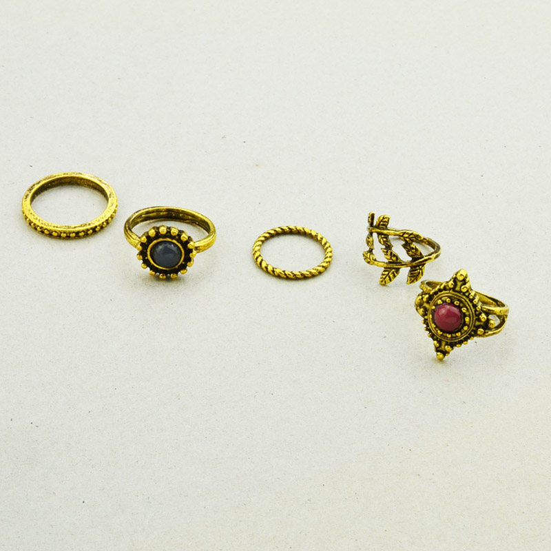 Aliexpress Buy 1lot=5pieces New fashion jewelry vintage gold plated lea