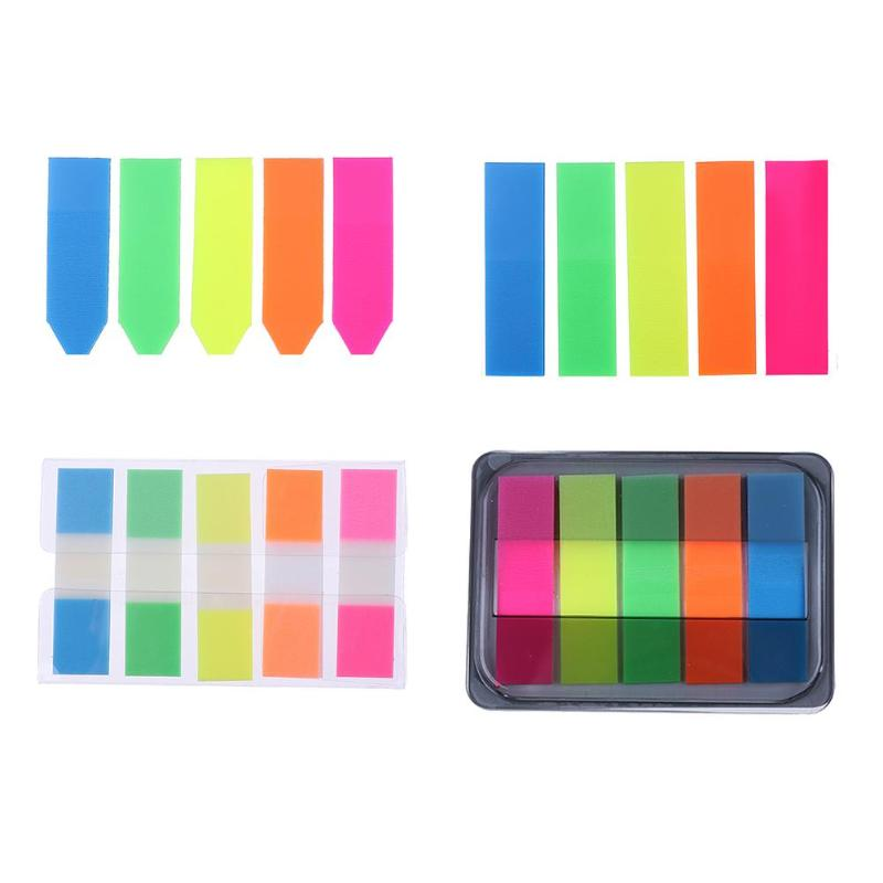 100pcs Paper Memo Pad Label Tag Index N Times Sticky Notes Bookmark Stickers Hot Sale Sign Planner Message Stationery Supplies 100pcs transparent color plastic index tabs flag sticky note instruct page mark stickers post label office papelaria supplies