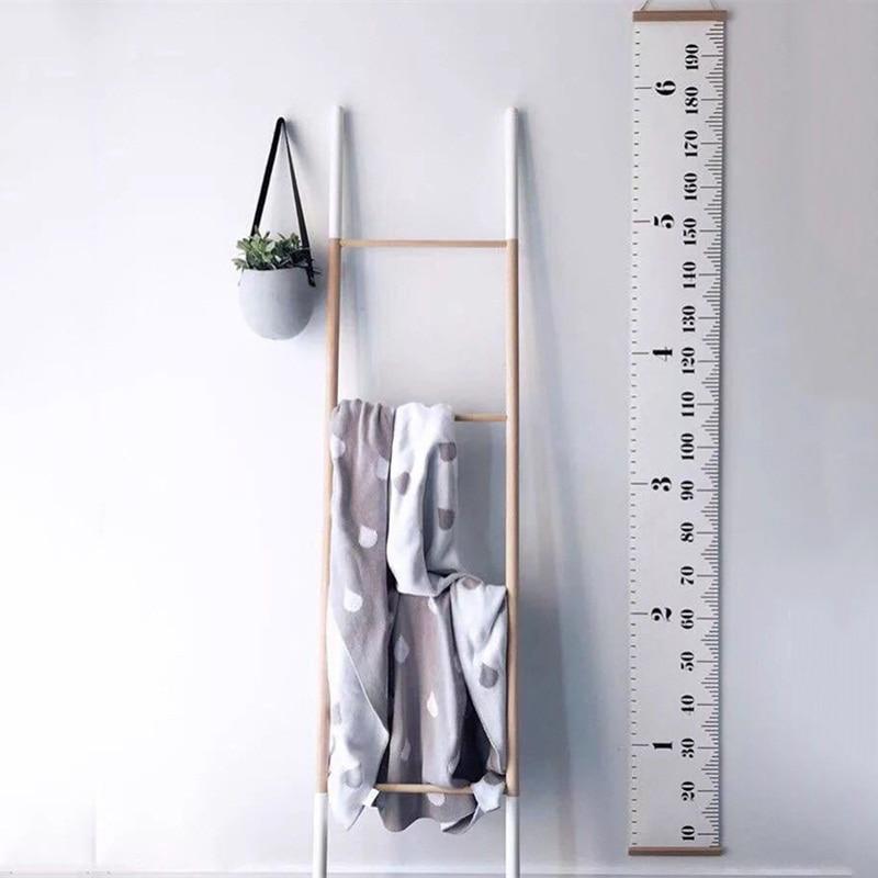 1 pieza unids nórdica niños colgante altura regla tabla de crecimiento de altura para niños habitación pared arte ornamentos