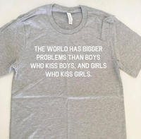 The World Has Bigger Problems Shirt Why Be Racist T Shirt Sexist Tumblr Twitter Shirt Love