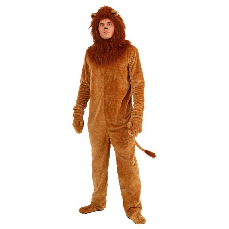 Adult Deluxe Lion Wizard Of Oz Halloween Animal Theme Costume