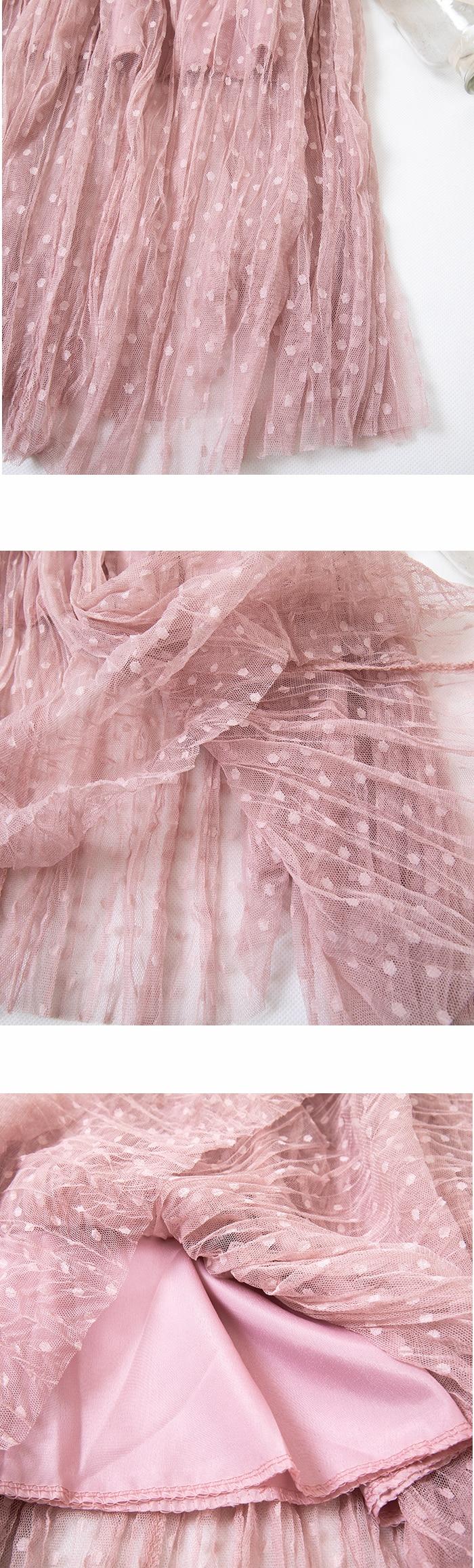 Autumn And Winter Women's Skirt New High Waist Skirt Solid Color Mesh Skirt Female Long Section Loose Thin Folds Skirt Women 9