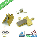 Bicycle Disc Brake Pads for Shimano XT M985, M988, Deore XT M785, SLX M666, M675, Deore M615, Alfine S700, 2 Pairs, Gold