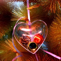 30Pcs Christmas Tree Ball Decoration Heart Shape Clear Bauble Hanging Ornaments Xmas Gift Christmas Balls Home Decorations