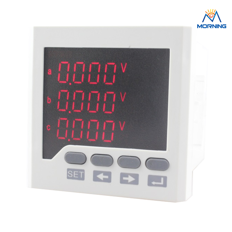 3D6 size 72*72 favourable price and high quality ac 3 phase led digital energy meter for industrial usage d2y panel size 120 120 low price and high quality lcd single phase digital multifunction meter for distribution box