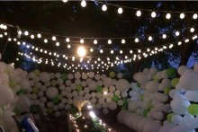 Novelty 20 LED G45 Globe Connectable Festoon Party Ball string lamps led Christmas Lights fairy wedding garden pendant garland