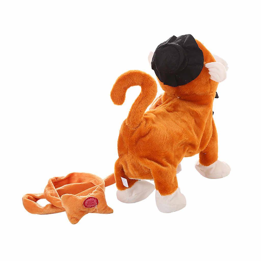 Электрическая прогулочная плюшевая обезьянка батарейка для игрушек с питанием от плюшевых животных детская игрушка