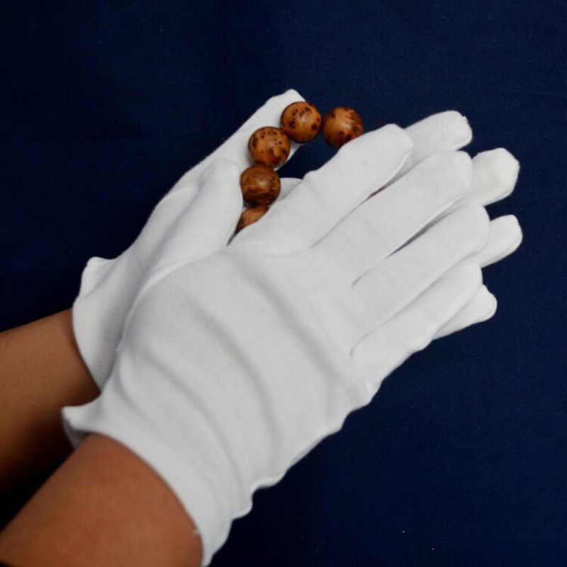 Guantes de limpieza para el hogar, guantes de algodón de Color blanco, guantes de trabajo de limpieza para sala