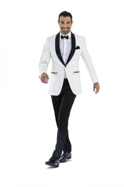 Latest Coat Pant Designs White Wedding Suits For Men Formal Slim Fit Prom Groom Gentle Tuxedo