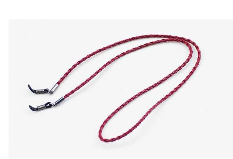 1pcs Óculos óculos de Sol Eyewear Espetáculo Corda Cordas Cadeia Couro Trançado PU Preto/Brown/Roxo/Vermelho Gota grátis