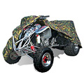 XL Jungle Wood Camouflage Silver 190T Polyester ATV Cover Double Stitched Seams For ATVs