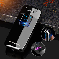 2018 Portable Novelty Suspended Ignition And Display Power Scree Arc Smart Gift Dual Cigarette Plasma Lighter