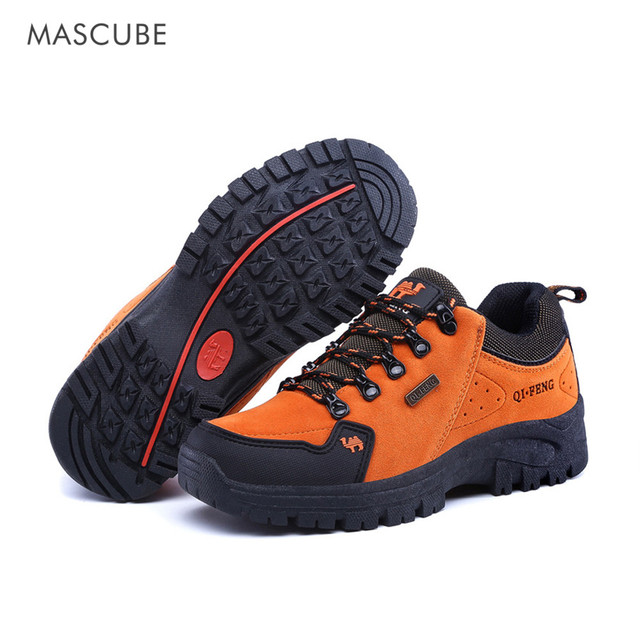 MASCUBE 2018 Man Waterproof Breathable Hiking Shoes Outdoor Boots Trekking Sport Sneakers Women Waterproof Tourism Shoes