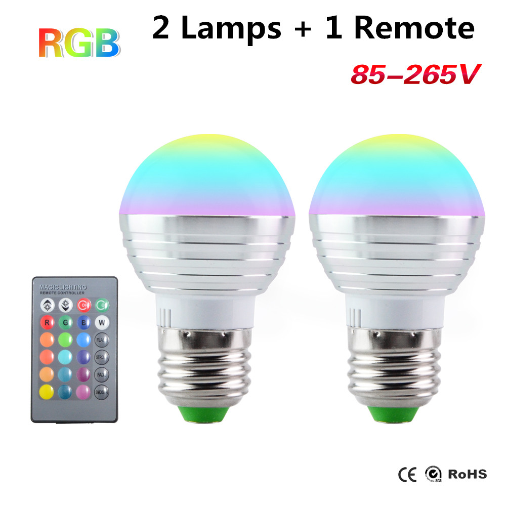 Led Bulbs Rgb Led Bulb E27 E14 16 Color Changing Light Candle Bulb Rgb Led Spotlight Lamp Ac85 265v Us 6 98 17 Off Rgb Led Bulb E27 E14 3w Led Lamp Light 110v 220v Led Spotlight Candle Light 16 Color Change Ampoule Led 2 Lamps 1 Remote In Led