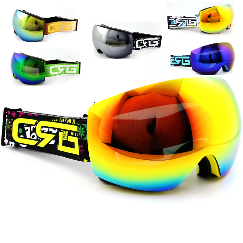 Brand Professional Ski Goggles Double Lens UV400 Anti-fog Adult Snowboard Skiing Glasses Women Men Snow Eyewear