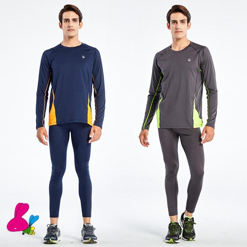 2PCS Training & Exercise T Shirt Men Long / Short Sleeve Fitness Set Gym Running Tights / Leggings Plus Size