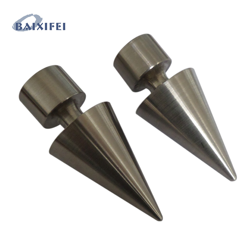 2 Pcs D16mm Stainless Steel Curtain Rod Decorative Head Cone, Curtain Accessories Finials for Window Decoration