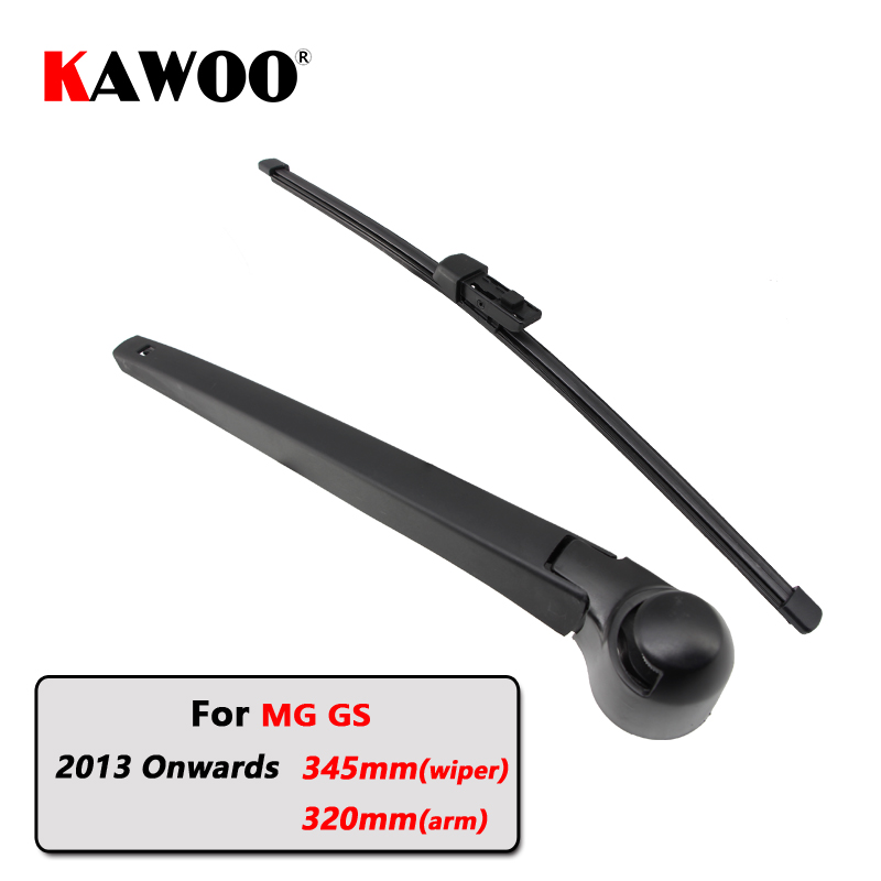 KAWOO Car Rear Wiper Blades Back Window Wipers Arm For MG GS Hatchback (2013 Onwards) 345mm Auto Windscreen Blade Styling