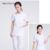 New hospital white Slim medical clothing surgical scrubs medical uniforms women laboratory clothes dentist surgical suit sets