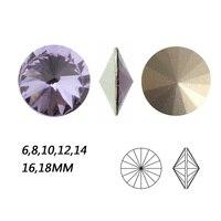 NYMR #1122 All Sizes Violet Rivoli Sew On Rhinestone Pointback Fancy Strass Crystal For Clothes Garment Decoration