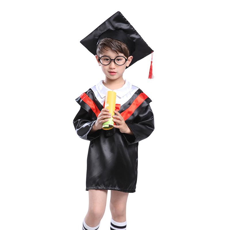 Children Halloween Cosplay Costume Kids Graduation Gown Student ...