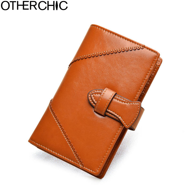 OTHERCHIC  Leather Wallet Small Women Wallets Fashion Woman Coin Purse Dollar Price Clutch Card HolWallet der Purses  17Y03-15 dollar price new european and american ultra thin leather purse large zip clutch oil wax leather wallet portefeuille femme cuir