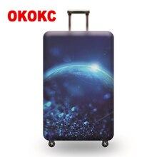 b73a6f4e3c237 OKOKC Ay Elastik Bagaj Koruyucu Kapak için 19-32 inç Arabası Bavul Korumak  Toz Çanta Case Seyahat Aksesuarları