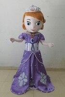 Принцесса София Маскоты взрослый костюм Софии первой Маскоты костюм для Хэллоуин костюмы для праздников