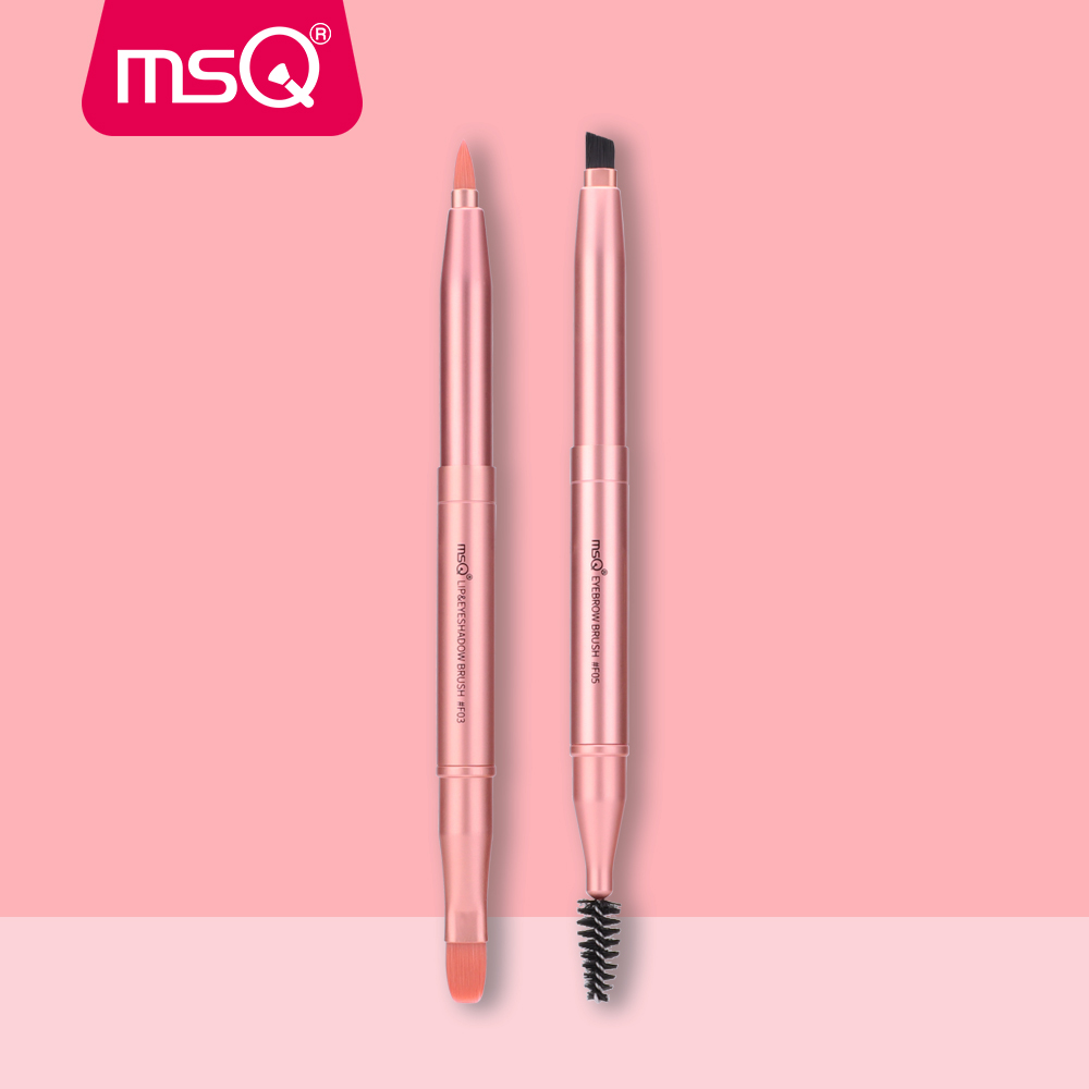 MSQ Single Makeup Brush Eyebrow Comb Pencil Double-end portable & Retractable Lip Gloss Make Up Brushes Cosmetic Beauty Tools