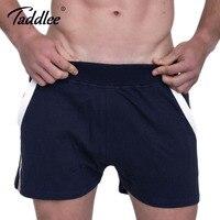 Taddlee бренд Для мужчин хлопковые короткие штаны Шорты для женщин гей бермуды Фитнес вздох Мотобрюки пикантные Для мужчин брюки-карго Шорты д...