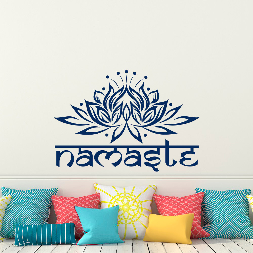 Bohe Mandala Flower Wall Paper Decor Yoga Studio Vinyl: Lotus Flower Wall Decal Yoga Namaste Wall Stickers Home