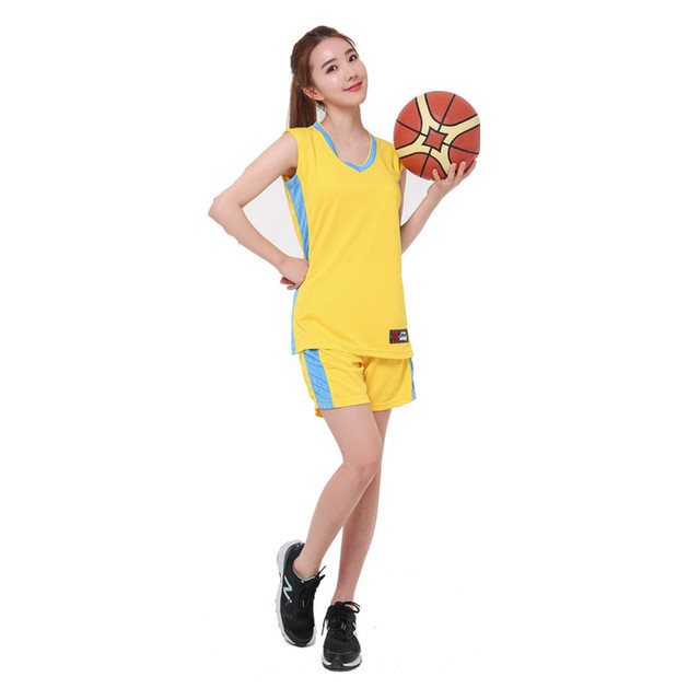 buy online 9f835 b652a US $17.58 |2017 neue frauen basketball Trikots mädchen atmungs leere sport  kit tragen basketball short shirts vollen satz uniformen anzüge kleidung in  ...