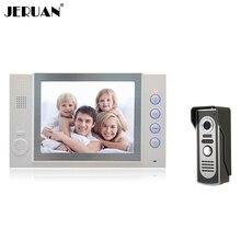JERUAN 8 pulgadas video de la puerta del timbre del teléfono sistema de intercomunicación interfono cámara 700TVL COMS grabación y tomar fotos