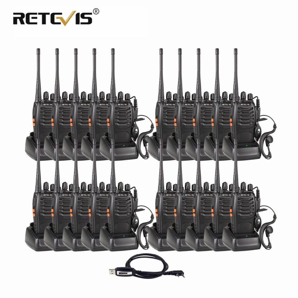 20 pcs Retevis H777 Portable Talkie Walkie De Poche Hf Émetteur-Récepteur Hôtel/Restaurant Deux Way Radio Communicateur Ham Radio Station
